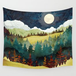 Autumn Moon Wall Tapestry