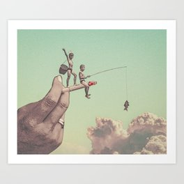 The dangers of happiness Art Print