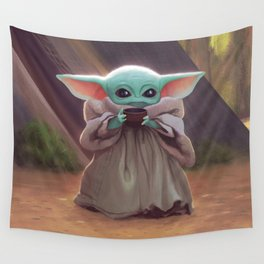 """The Child Sips"" by Dylan Bonner Wall Tapestry"