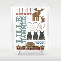 norway Shower Curtains featuring Lillehammer Norway by MTFG