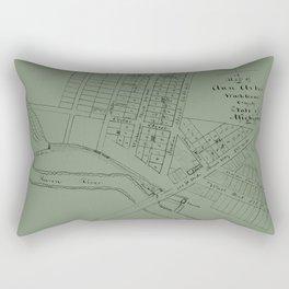 Map Of Ann Arbor 1832 Rectangular Pillow