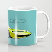 lamborghini Mugs featuring Lamborghini Miura, car by Luca Olivotto