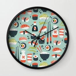 Sushi Dreams – Mint Wall Clock