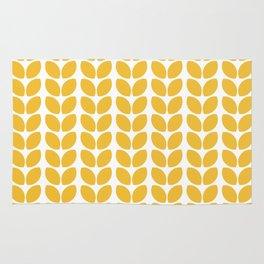 leaves - yellow Rug