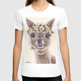 Holly The Alpaca, Alpaca Art T-shirt