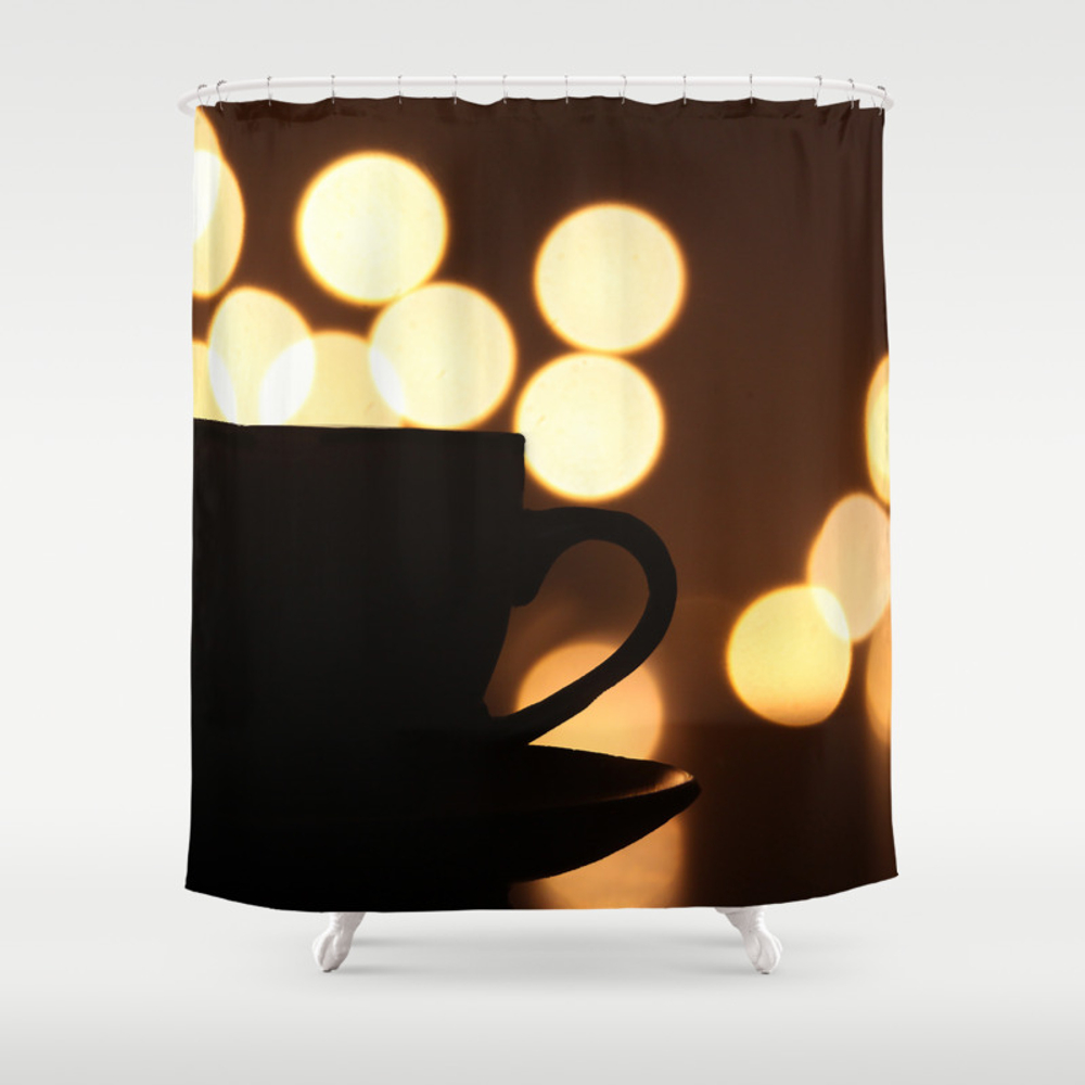 A Cup Of Coffee! Shower Curtain by Kostas_lio CTN7952519