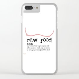 Raw Food Diet unisex Clear iPhone Case