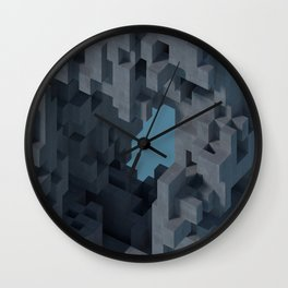 Abstract Concrete II Wall Clock