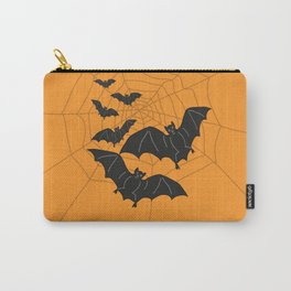 Flying Bats orange Carry-All Pouch