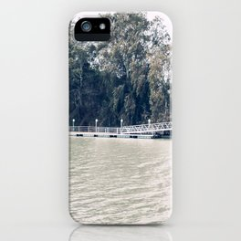 Calm river side | modern landscape photography iPhone Case