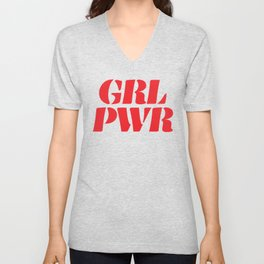 Girl Power GRL PWR Unisex V-Neck