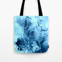 roses Tote Bags featuring roses underwater by clemm