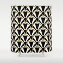 Black, White and Gold Classic Art Deco Fan Pattern by suzzincolour