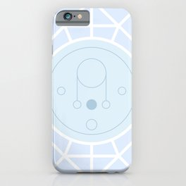 Pastel Universe Blue Abstract Moon Geometry iPhone Case