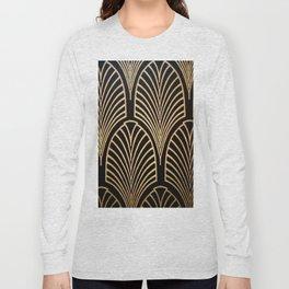 Art nouveau Black,bronze,gold,art deco,vintage,elegant,chic,belle époque Long Sleeve T-shirt