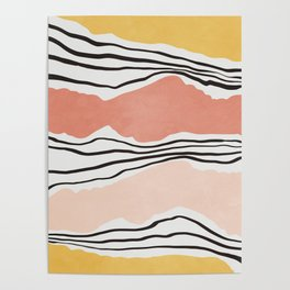 Modern irregular Stripes 01 Poster