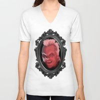 david fleck V-neck T-shirts featuring David by Jehzbell Black