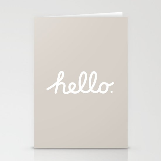 Hello: The Macintosh Office (Beige) Stationery Cards