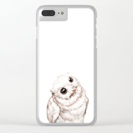 Baby Snowy Owl Clear iPhone Case