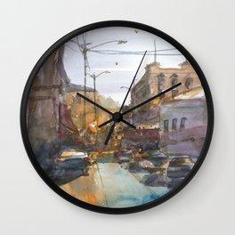 Urban Street Wall Clock