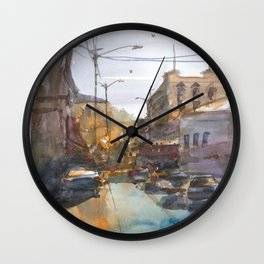 Urban Street Wall Clock