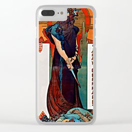 Alfons Mucha - Medea Clear iPhone Case