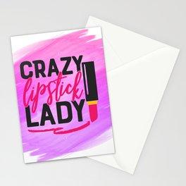 Crazy Lipstick Lady Stationery Cards