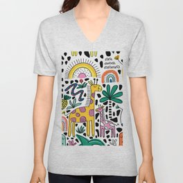 Safari Animals Unisex V-Neck