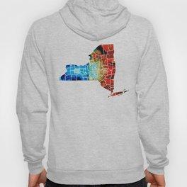 New York - Map By Sharon Cummings Hoody