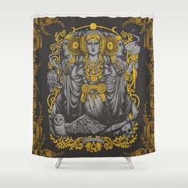 IBERIAN HECATE gray Shower Curtain