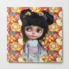 Japanse Girl by Erregiro Metal Print