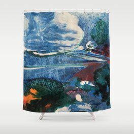 Mini World Environmental Blues 2 Shower Curtain