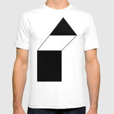 haus 1 White Mens Fitted Tee SMALL