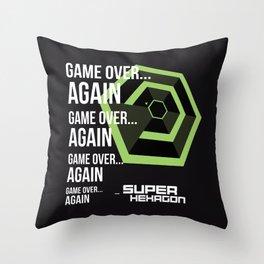 SUPER HEXAGON Throw Pillow