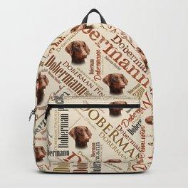 Dobermann Word Art Backpack