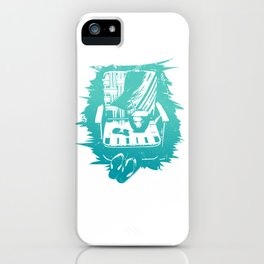 Relaxing on a beach in Maui, Hawaii iPhone Case