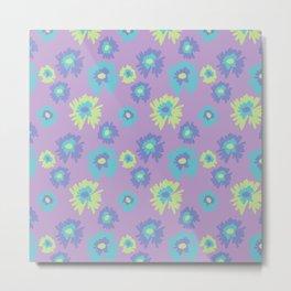 flower pattern/print purple Metal Print