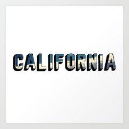 California Ocean Letters Art Print