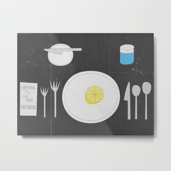 Everything Lemon - Analog Zine Metal Print