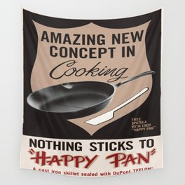 Vintage poster - Happy Pan Wall Tapestry