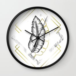 Marble and Gold I Wall Clock