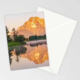 Oxbow Bend Landscape Mountain Print Stationery Cards