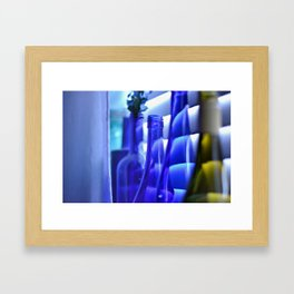 Blue Bottles - 1 Framed Art Print