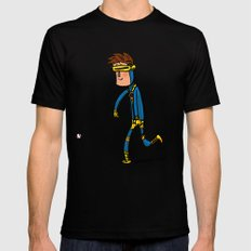 Cyclops Loves Baseball Black SMALL Mens Fitted Tee