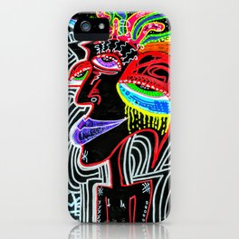 Vibrant Solitary Madness iPhone Case