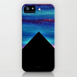 PYRAMIDS OF GIZA SPARKLY SILHOUETTE 2 iPhone Case