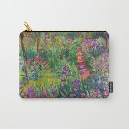 """Claude Monet """"The iris garden at Giverny"""", 1900 Carry-All Pouch"""