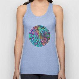Multicolor Dots Pyramid Unisex Tank Top