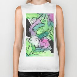 Final Touch Modern Abstract Watercolor Painting Biker Tank