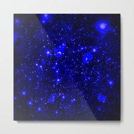 Dark Matter Galaxy Blue Metal Print